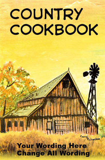 Country Cookbook Cover : Country covers cookbook fundraising publishing