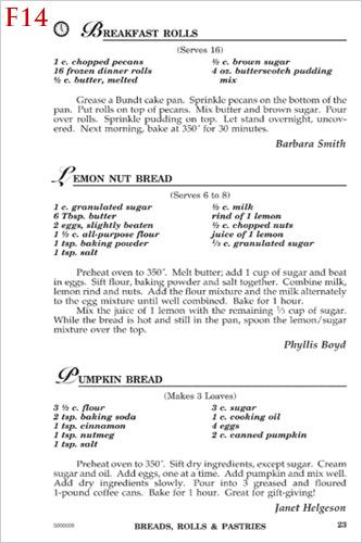 recipe formats