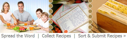 collect recipes and make cookbooks online
