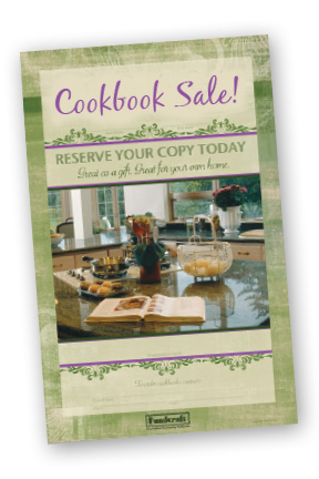 new Posters to sell cookbooks